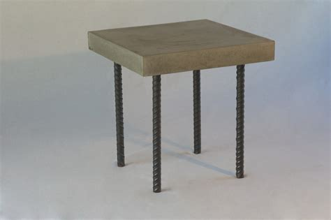 concrete rebar coffee table