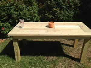 Build Outdoor Dining Table White Outdoor Dining Table Diy Projects