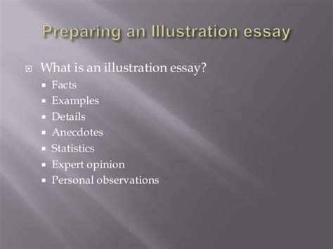 Exle Of Illustration Essay by Exles Of Illustration Essay