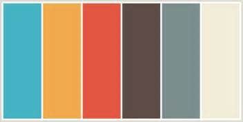 best color schemes colorcombo8344 with hex colors 44b3c2 f1a94e e45641