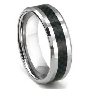 Wedding band ring tungsten carbide green riverstone inlay wedding band