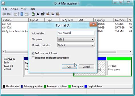 fat32 format volume label how to format hard drive partition in windows 8 with free