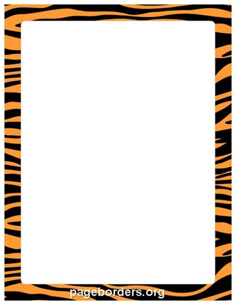 zebra printer templates for word printable orange and black zebra print border use the
