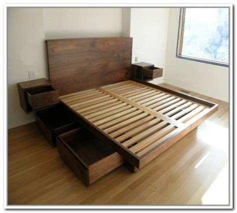 How To Build A Bed Frame With Storage Diy Storage Bed Ideas For Small Places Diy Craft Ideas Gardening