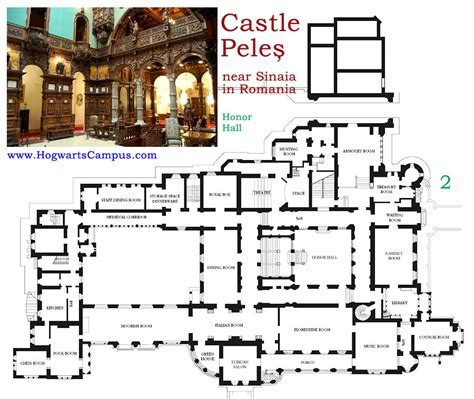 hogwarts castle floor plan peles castle floor plan 2nd floor