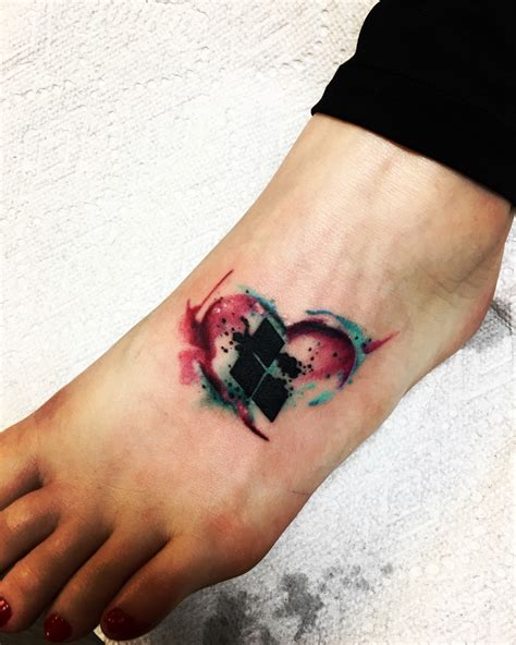 harley quinn watercolor tattoo tattoos for guys