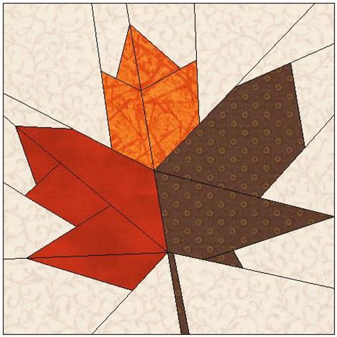 Maple Leaf Quilt Pattern by Kari Schell On Point Quilter On Point Quilter