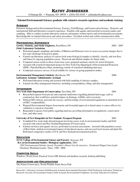 Lab Resume Exles by Lab Tech Resume Free Excel Templates