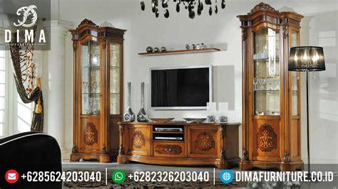 Bufet Tv Bufet Jati Pajangan Mebel Jepara bufet tv dan lemari hias jati minimalis mewah terbaru