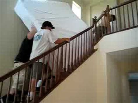 how to move a couch upstairs the world s heaviest bed and moving it up the stairs youtube