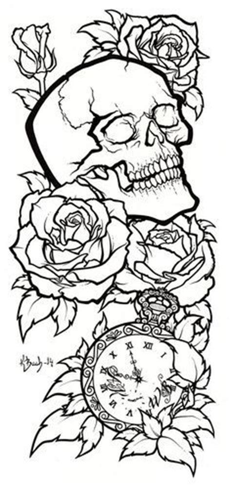 tattoo outline pen skull tattoo design lineart by blueundine on deviantart