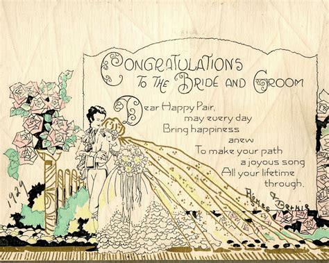 marriage wedding card images the copycat collector collection 244 vintage 1920s