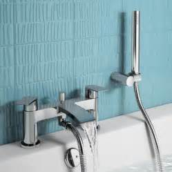 Bath Taps With Shower Head Nelas Bath Shower Mixer Tap With Hand Held Shower Head