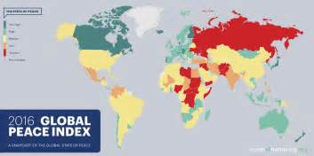 World Conflict Map by Most Dangerous Countries In The World 2017 Ranked