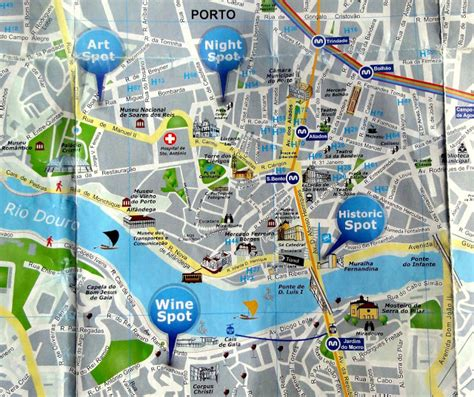map of porto walking discoveries and map of porto centre travel and