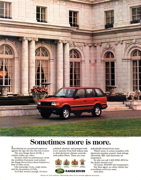 vintage land rover ad jake s car world 1995 range rover ad