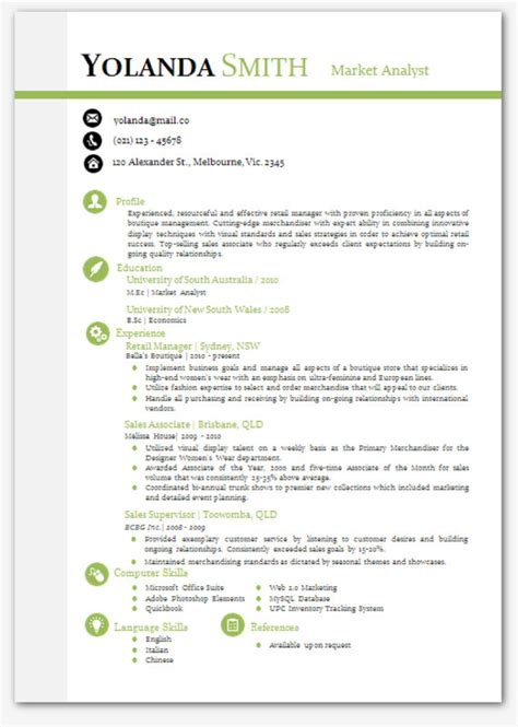 Resume Te by Cool Looking Resume Modern Microsoft Word Resume Template