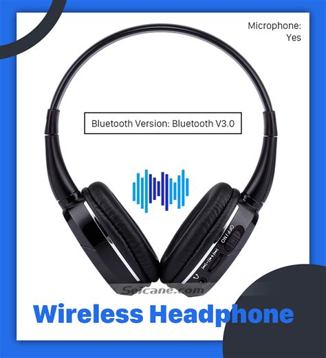 Headset Bluetooth Two Channel seicane headphone indoor bluetooth headset for pc car stereo transmitter headrest dvd player tv