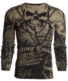 Kaos American Eagle 40 S M xtreme couture by affliction mens t shirt offering skulls