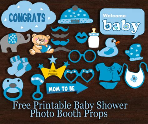 free printables for baby shower photo booth free printable boy baby shower photo booth props