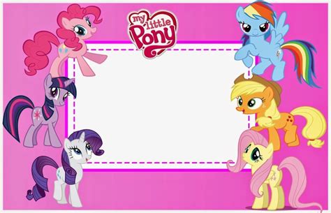 free printable my little pony invitation template