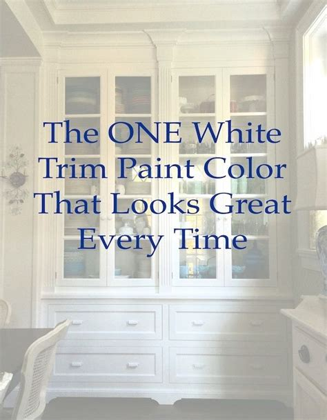 colors that look with the one white trim color that works every time colorways