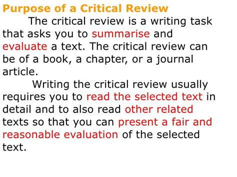 Writing Critical Review by Writing An Article Review
