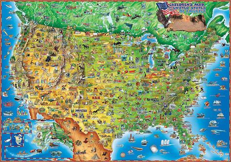 usa travel map maps update 20001107 usa tourist attractions map map