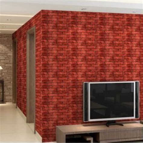 Sticker Wallpaper Dinding 3d Embosed Model Bata rustic brick effect rock textured wall sticker paper grey lazada malaysia