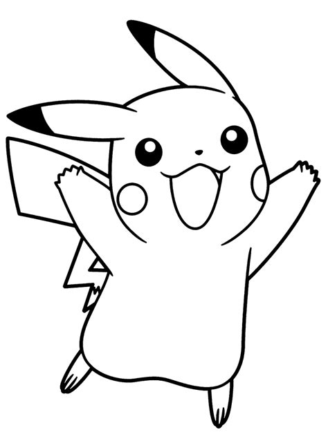 blank coloring pages pokemon pokemon thunderbolt attack 10 pikachu coloring pages