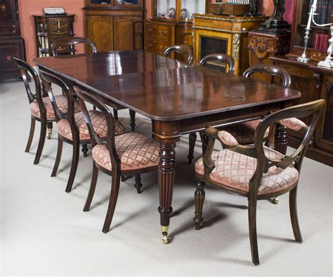mahogany dining room table and chairs antique regency mahogany dining table 8 balloon back