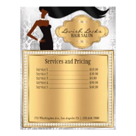 african american salon price list african american hair stylist silver gold damask zazzle