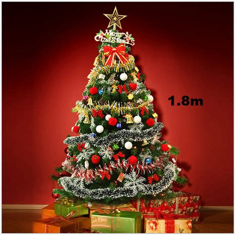 ready made cristmas decorations 6ft pre lit artificial indoor led lights tree with decorations ebay