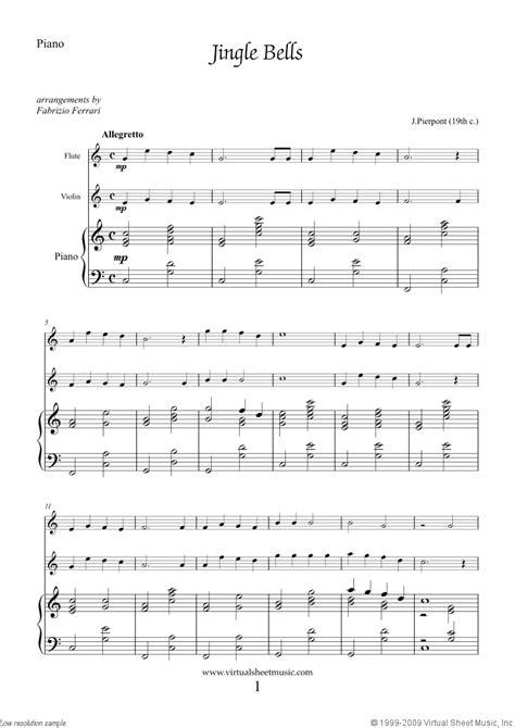 Easy Christmas Flute, Violin and Piano Sheet Music [PDF]