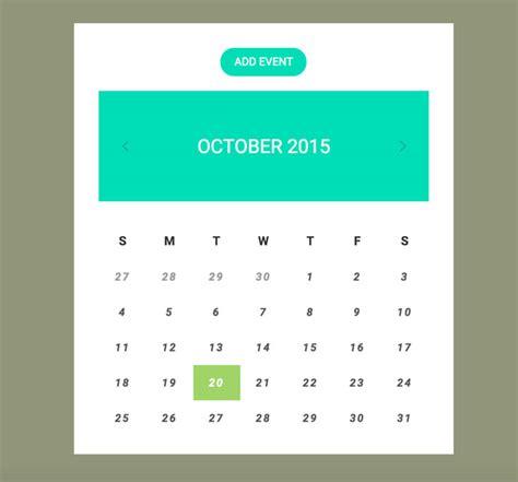 calendar design html5 7 best free html5 css3 calendar widgets designmaz