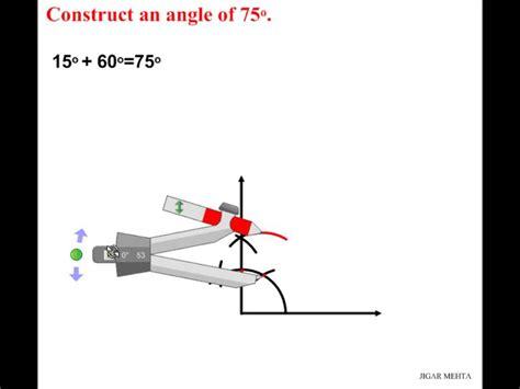 Drawing 75 Degree Angle Compass by Angle Constructions Using Compass 75 Degrees