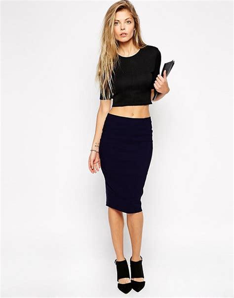 asos asos high waisted pencil skirt