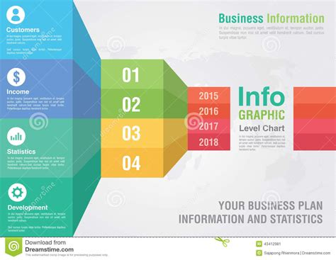 business bar level step chart infographic business report