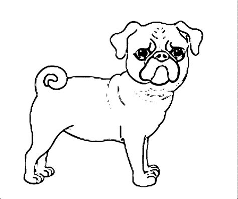 coloring pages of pugs dogs coloring pages pug coloring home
