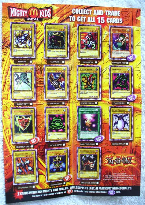 Activate Mcdonalds Gift Card - mcdonald s 2002 yu gi oh yugioh 15 full set 3 cd cosmo queen millenniumshield ebay