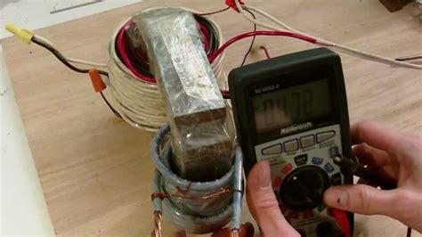 transformer built from motor