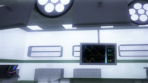 Tech Room by High Tech Operation Room Hospital Interior Stock Footage