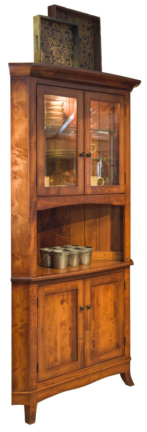 corner hutches for kitchen montpelier corner hutch hardwood creations