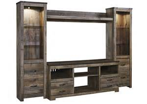 Glass Tv Stand With Mount by Jarons Trinell Brown Entertainment Center W Fireplace Option