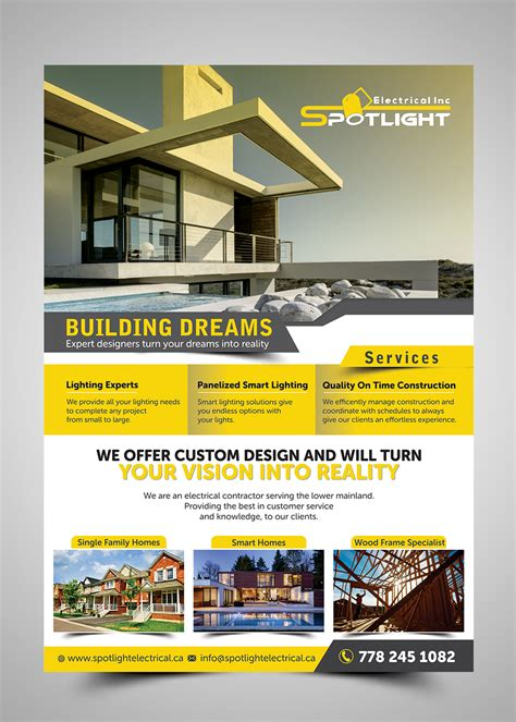 Light Property Management Inc by Flyer Design For Spotlight Electrical Inc By Esolz