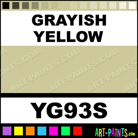 grayish yellow sketch markers paintmarker marking pen paints yg93s grayish yellow paint