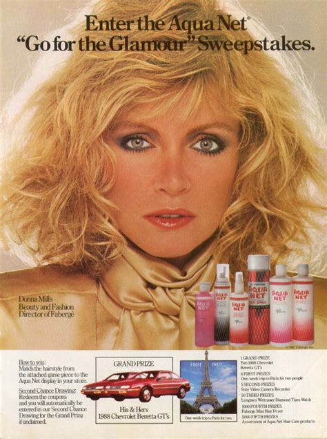 Sweepstakes Ad - donna mills for aqua net sweepstakes ad 1987
