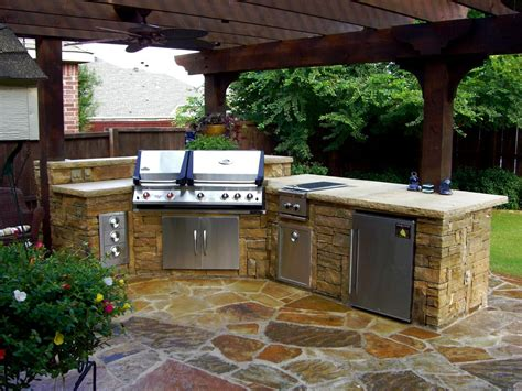 backyard kitchen ideas cheap outdoor kitchen ideas hgtv