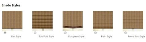 lshade styles what are the different styles of roman shades zebrablinds