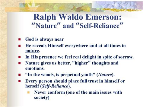 themes of the essay nature by emerson self reliance essay full self reliance summary ayucar com